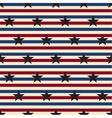 American stars and stripes seamless pattern vector image
