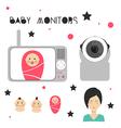 Baby monitors design element vector image vector image