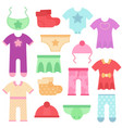 baclothes kids colorful and bright bodysuits vector image vector image