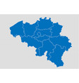 belgium map - high detailed blue map with vector image vector image