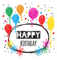 birthday card in doodle style vector image vector image