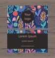 Business card colorful floral background