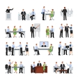 Business Conference Icons Set vector image vector image