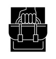 business portfolio icon sig vector image