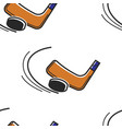 canadian hokey sport seamless pattern puck and vector image vector image