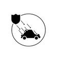 car insurance natural calamity icon vector image vector image