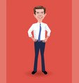 caricature presidential candidate pete buttigieg vector image vector image
