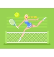 Cartoon character woman tennis player vector image vector image