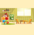 cartoon kindergarten with toys for children vector image vector image