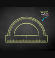 chalk drawn protractor vector image vector image