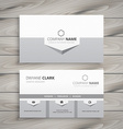 clean gray business card vector image vector image