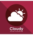 cloudy icon design vector image