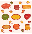 Collection of autumn text frames vector image