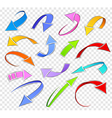 Collection of sketch arrows vector image vector image