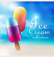 colorful ice cream products concept vector image