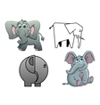 cute cartoon baelephants vector image vector image