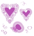 Delicate pink hearts Valentine Day Strokes Hand vector image