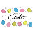 easter eggs composition hand drawn black on white vector image vector image