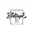 Fashion Boutique Premium - badge logo sticker vector image