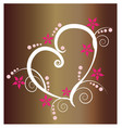 floral heart design icon vector image vector image