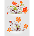 flower mounted in pocket vector image