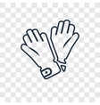 glove for concept linear icon isolated on vector image