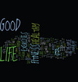 good life fitness text background word cloud vector image vector image