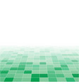 green random square mosaic or tiles background vector image vector image