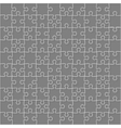 Grey Puzzles Pieces Square GigSaw - 100 vector image vector image