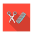 Hairdresser icon of for web vector image