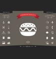 hamburger or cheeseburger icon vector image