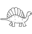 hand drawn doodle spinosaurus vector image vector image