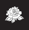 Hand Drawn Wedding Rose vector image