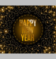 happy new year text calligraphic lettering new vector image