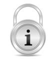 Information security vector image vector image