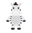 isolated stuffed zebra toy vector image vector image