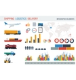 Logistic elements for infographic vector image vector image