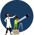 looking at stars vector image vector image