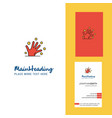 magical hands creative logo and business card vector image vector image