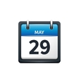 May 29 Calendar icon flat vector image vector image