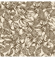 mistletoe and pine cones vector image