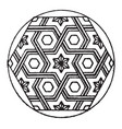 modern hexagonal panel is a parquetry design of a vector image vector image