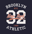 new york brooklyn sports apparel vector image vector image