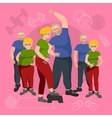 Old People man and woman with different body mass vector image vector image
