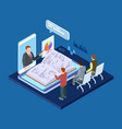 online business training 3d isometric vector image vector image