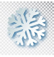 paper cut snowflake with shadow isolated on vector image