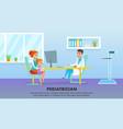 pediatrician medicine healthcare banner vector image vector image