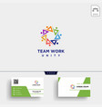 people community logo template and business card vector image vector image