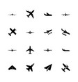 planes - flat icons vector image vector image