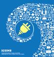 plug icon Nice set of beautiful icons twisted vector image vector image